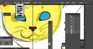 Drawing a cat nose