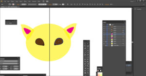 Drawing cat eyes Adobe Illustrator