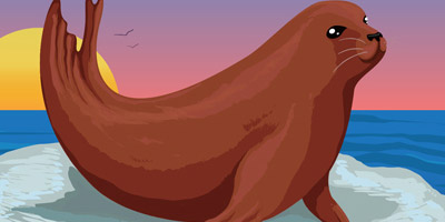 Creating a cute seal in Adobe Illustrator