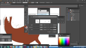 Changing brush size, angle and pressure in Adobe Illustrator
